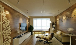 97平米简欧风格暖色系两室两厅装修效果图