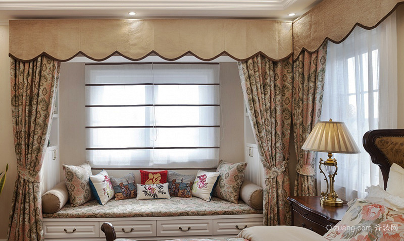 美式乡村风格精装大户型室内设计装修效果图