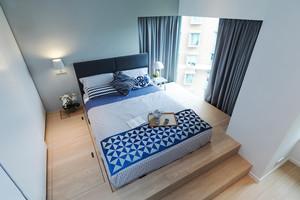 16平米现代简约风格榻榻米卧室装修实景图