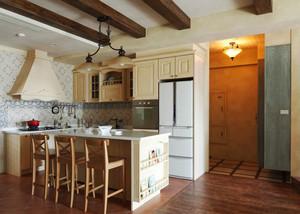 欧式风格精致开放式厨房吧台装修效果图