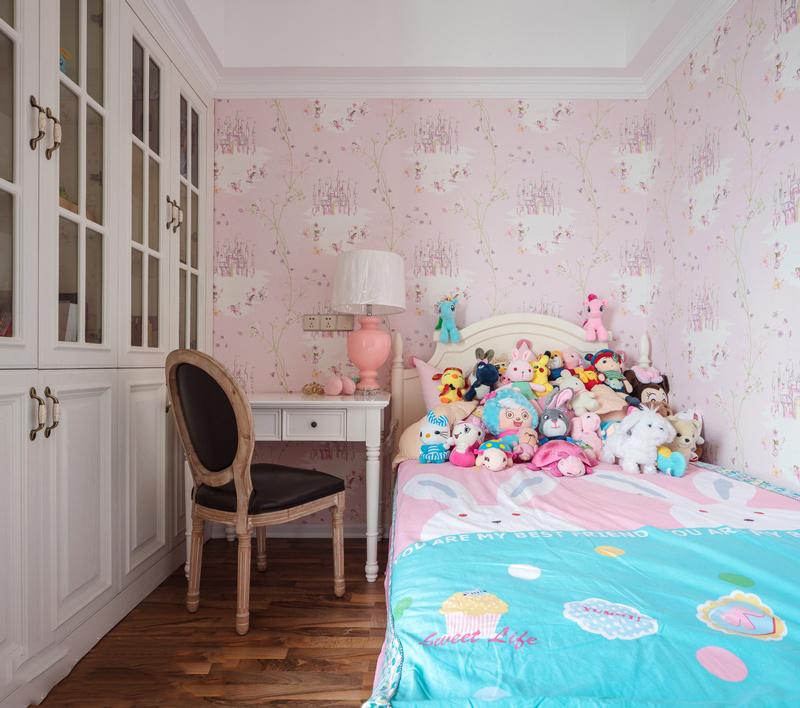 欧式风格粉色浪漫儿童房设计装修效果图赏析