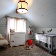 欧式风格温馨阁楼儿童房设计装修效果图赏析