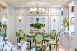 欧式田园风格温馨精美餐厅装修实景图