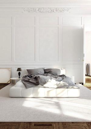 现代简约风格白色温馨卧室装修效果图