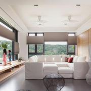 现代简约风格温馨浅色客厅装修效果图赏析