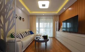117平米现代风格精装三室两厅室内装修效果图案例