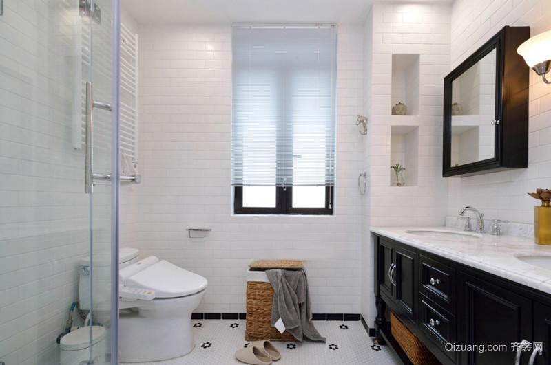 8平米美式风格精装卫生间装修效果图赏析