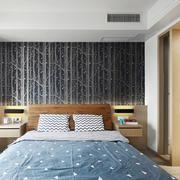 现代风格时尚简约卧室背景墙装修效果图赏析