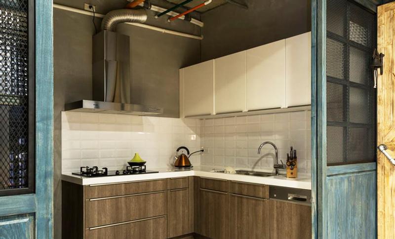 现代风格精致小户型厨房设计装修效果图
