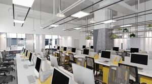 现代简约风格大办公室装修效果图