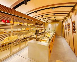 现代风格精装面包店装修效果图
