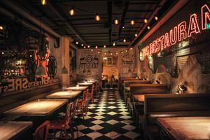 美式风格复古创意餐厅设计装修效果图
