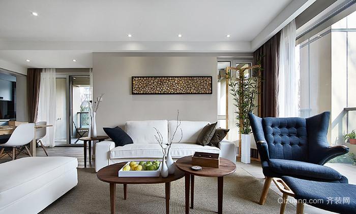 宜家风格简约温馨两室两厅室内设计装修效果图