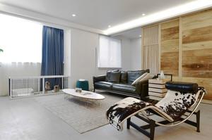 后现代风格冷色调时尚客厅设计装修效果图