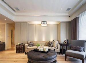 90平米简欧风格温馨浅色室内装修效果图