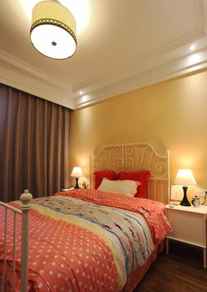 99平米简欧风格清新三室两厅室内装修效果图
