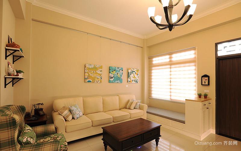 144平米美式风格清新复式楼室内装修效果图