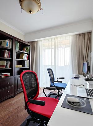 135平米美式风格自然洒脱大户型室内装修效果图
