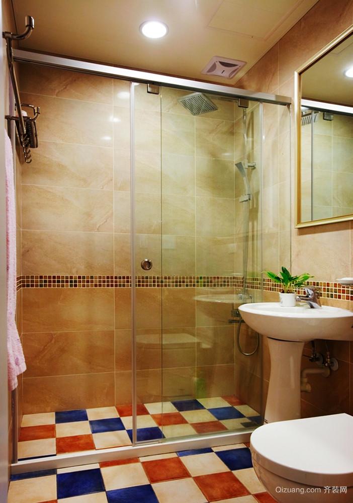 美式田园风格清新时尚三室两厅装修效果图