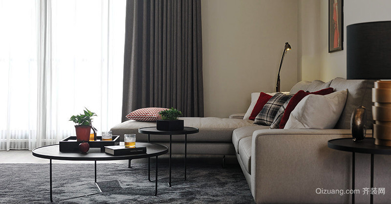 欧式风格低调温馨精致大户型室内装修效果图