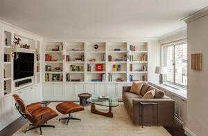 欧式风格大户型精致书房装修效果图