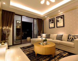 88平米现代风格精致两室两厅室内设计装修效果图