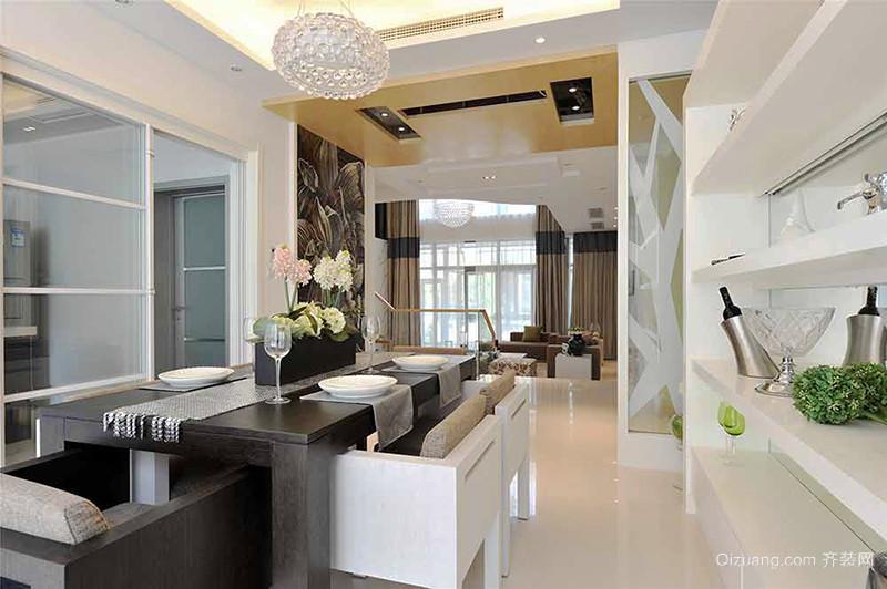 157平米现代简约风格复式楼室内装修效果图