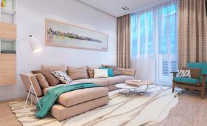 现代简约风格温馨客厅沙发装修效果图