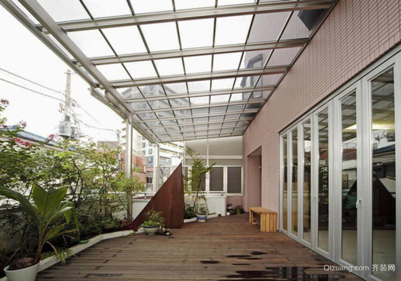 现代风格大户型时尚花园阳台装修效果图