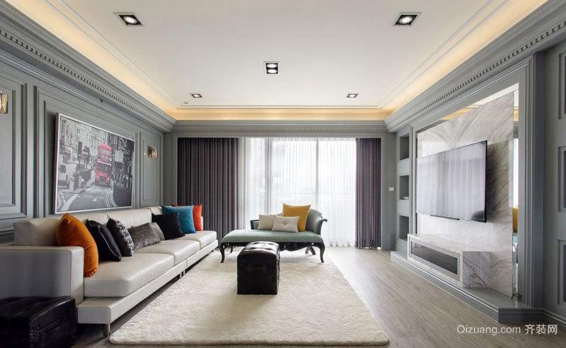 新古典主义风格优雅精致客厅设计装修效果图