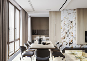 新中式风格低调精致餐厅装修效果图