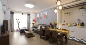 宜家风格简约温馨两室两厅室内设计效果图