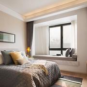 宜家风格简约小户型卧室飘窗设计装修效果图