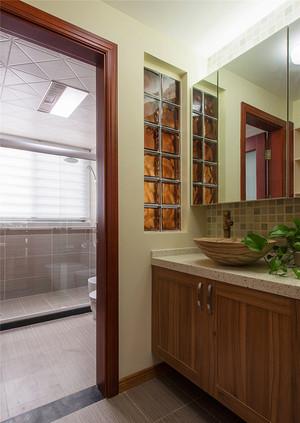 87平米中式风格精美两室两厅室内设计效果图
