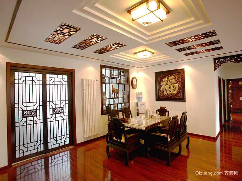 100平米中式风格古典精致室内设计装修效果图