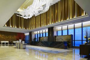 中式风格华丽精致酒店大堂装修效果图
