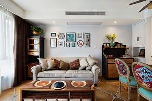 美式风格精美客厅背景墙装修效果图