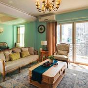 欧式温馨清新时尚客厅设计装修效果图