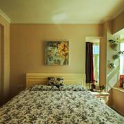 欧式风格温馨暖色卧室飘窗设计装修效果图