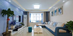清新风格简约三室两厅两卫装修效果图案例