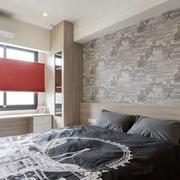 现代风格时尚卧室背景墙装修效果图