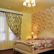 欧式田园风格温馨甜美卧室装修效果图