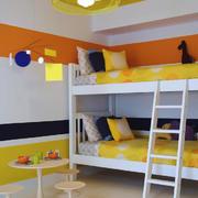 现代风格多彩时尚双层床儿童房装修效果图