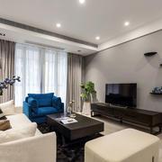 现代风格两居室精致客厅装修效果图