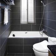 现代风格小户型黑色系卫生间装修效果图