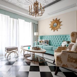 新古典主义风格大户型时尚客厅装修效果图