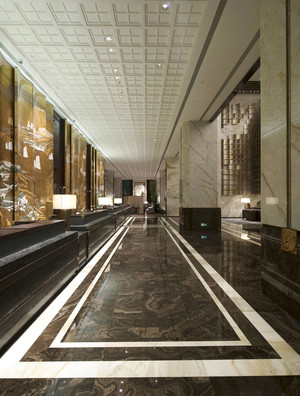 新中式风格典雅酒店过道装修效果图赏析