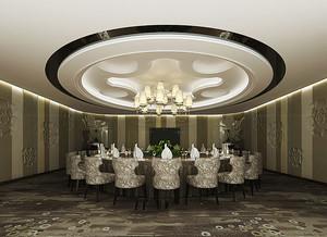欧式风格精致酒店包厢吊顶装修效果图