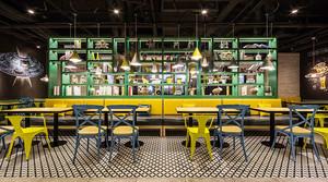 后现代风格时尚创意咖啡厅设计装修效果图