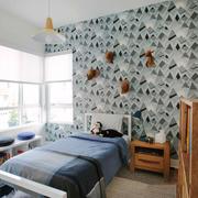 北欧风格清新简约男儿童房装修效果图